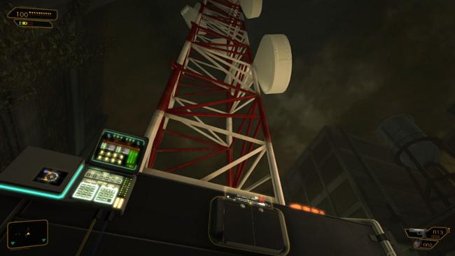 電波塔を停波させる。『デウスエクス』より。