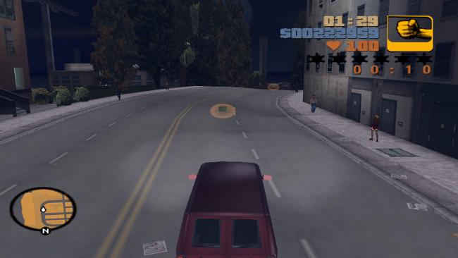 市内は車でも移動できる。