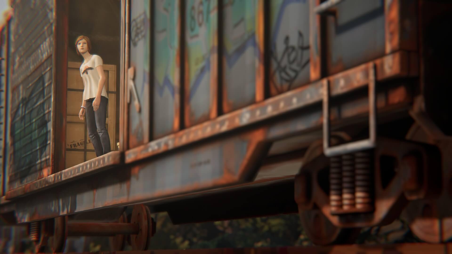 クロエ・プライス。貨物列車に揺られて。