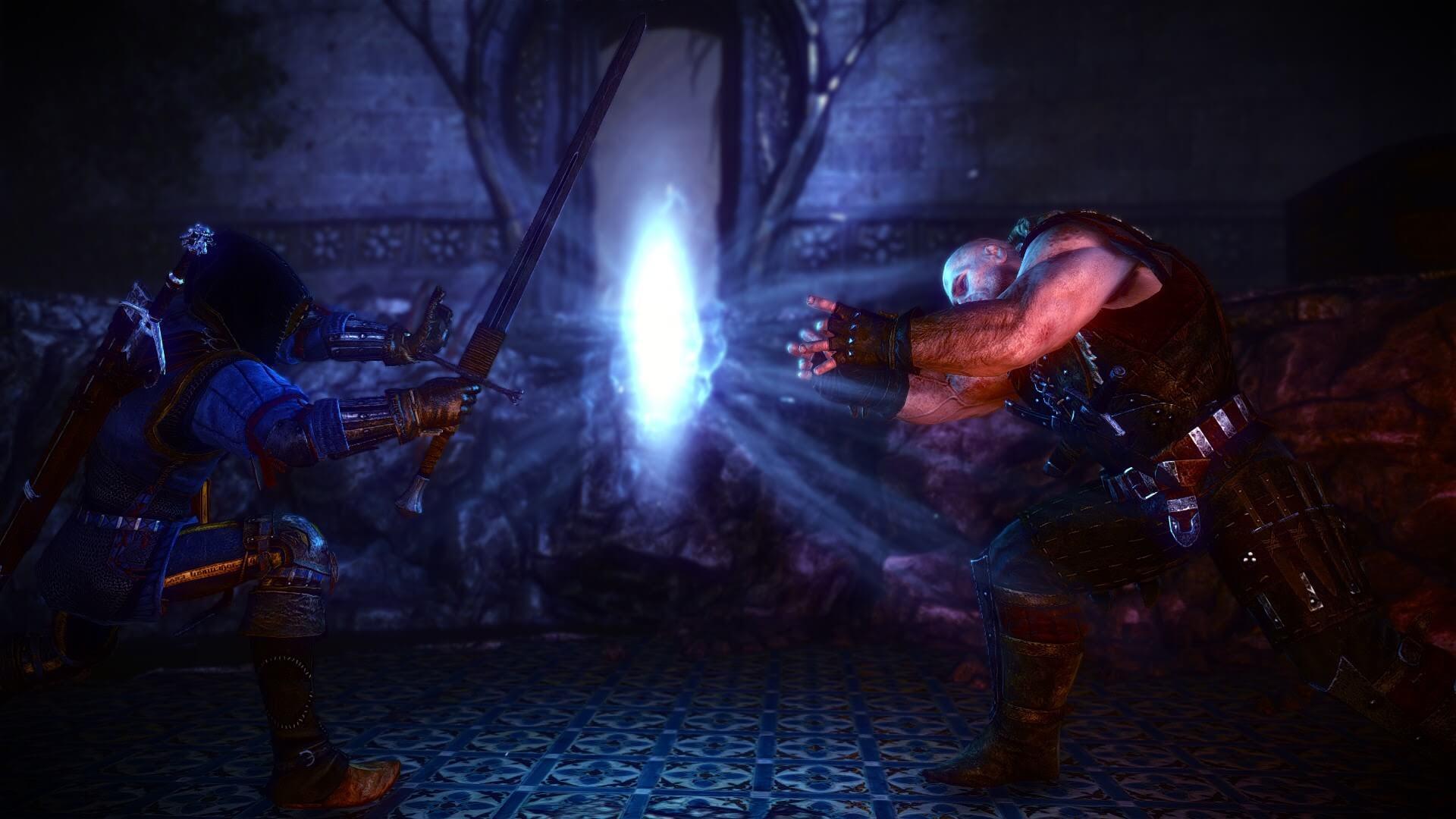 Geralt対レソ。『ウィッチャー2 王の暗殺者』より。