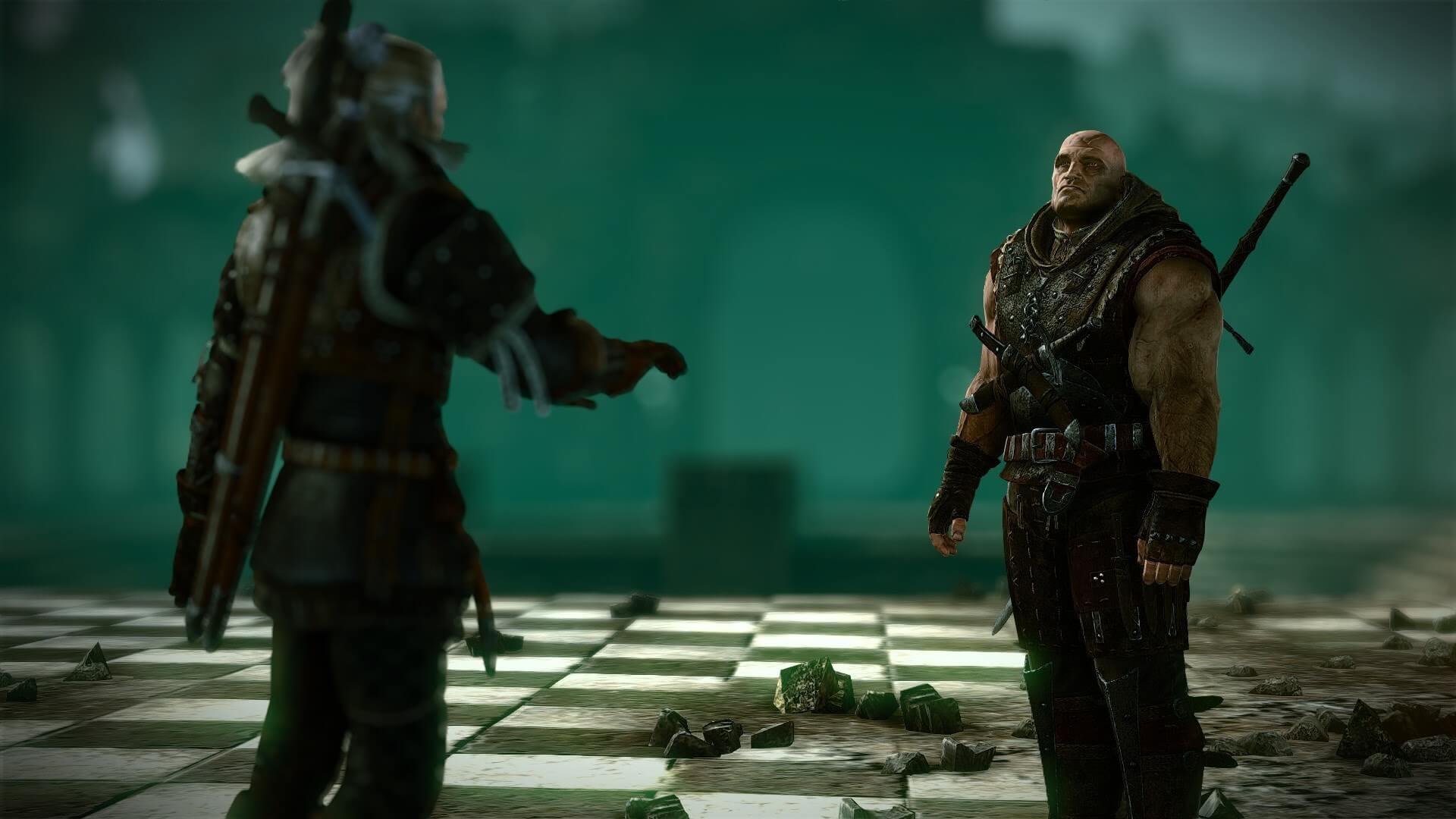 Geraltはレソに事の真相を明かされる。『ウィッチャー2 王の暗殺者』より。