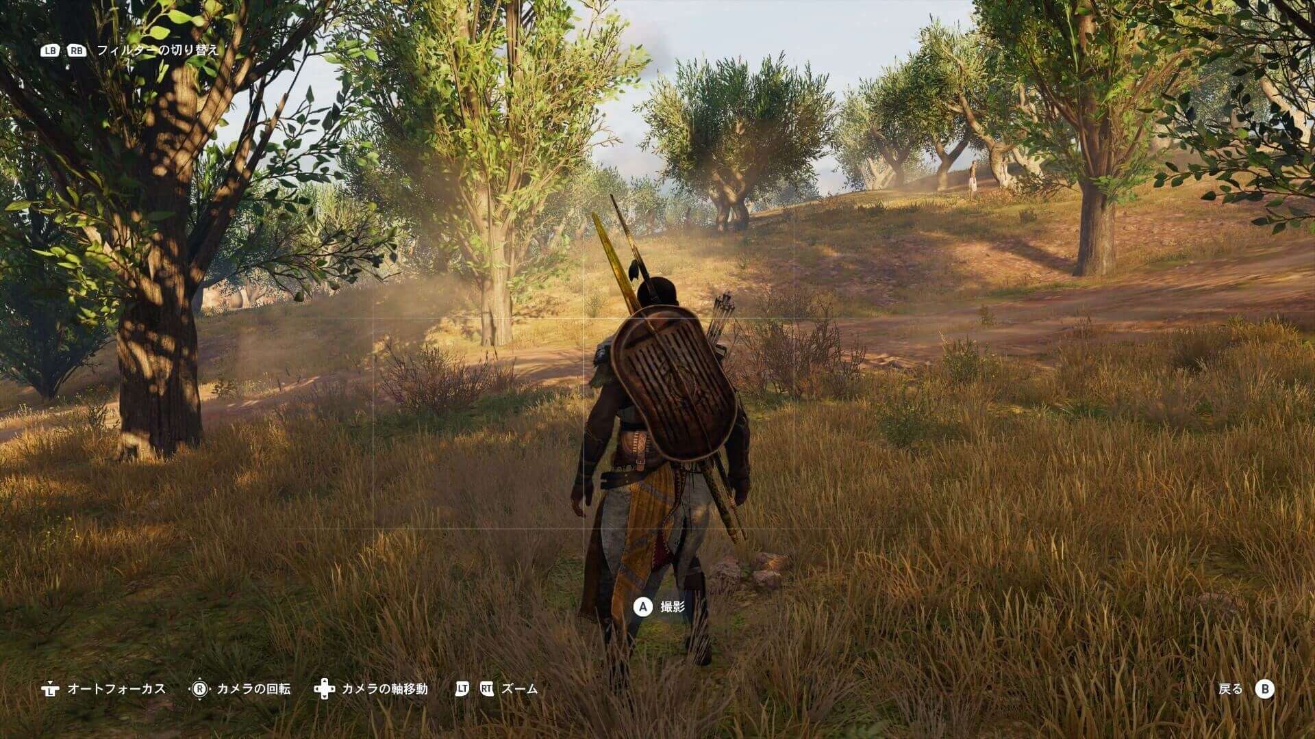 「フォトモード」。『Assassin's Creed Origins』より。