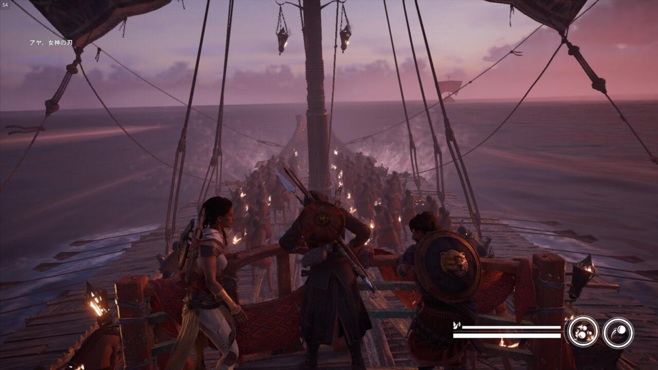 『アサシンクリード オリジンズ』では海戦が復活。ただし、一部ミッション限定。