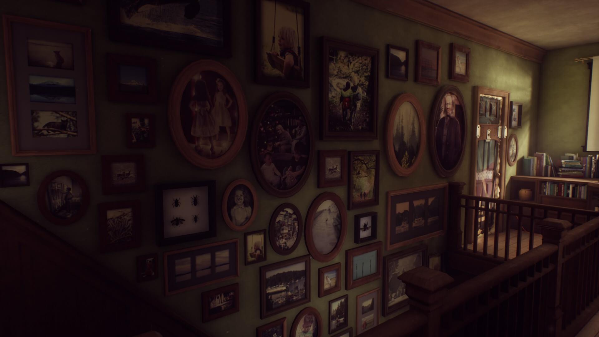 屋敷の中には閉ざされたドアや謎のアートで溢れかえっている。