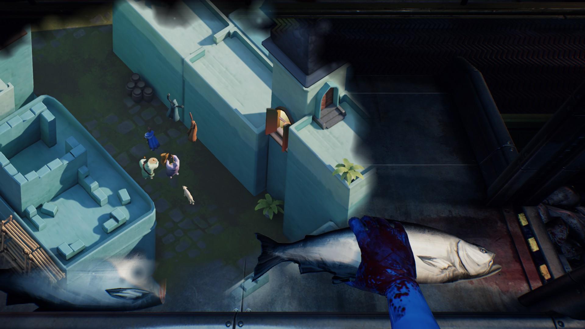 現実と空想の世界を描くミニゲーム。