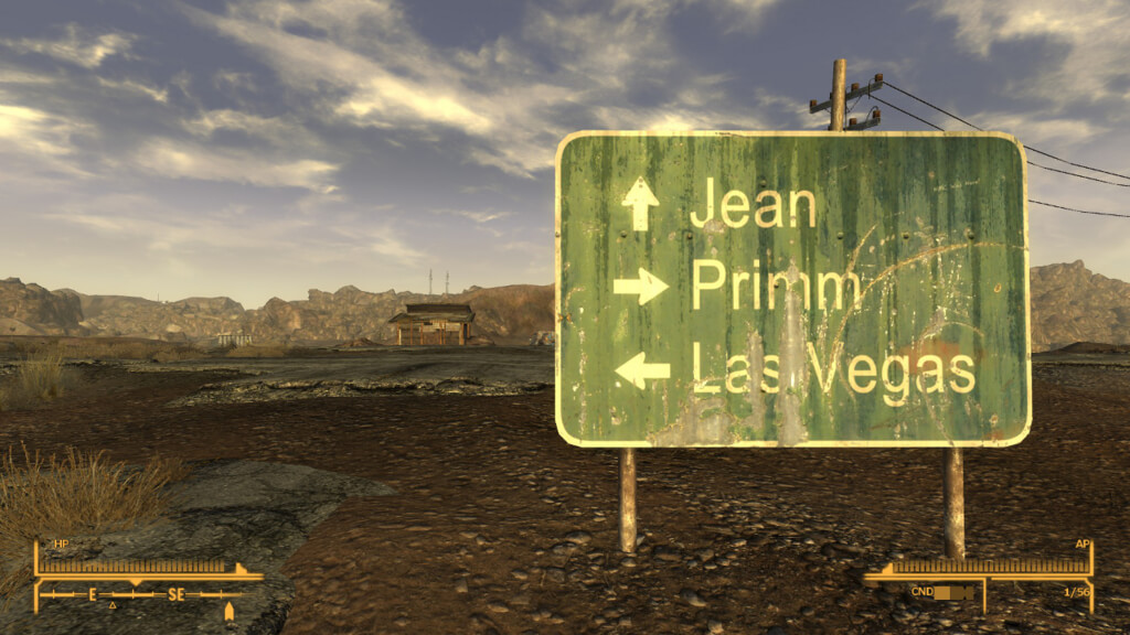 標識。まだレベルが低い運び屋にLas Vegasは早すぎる...?