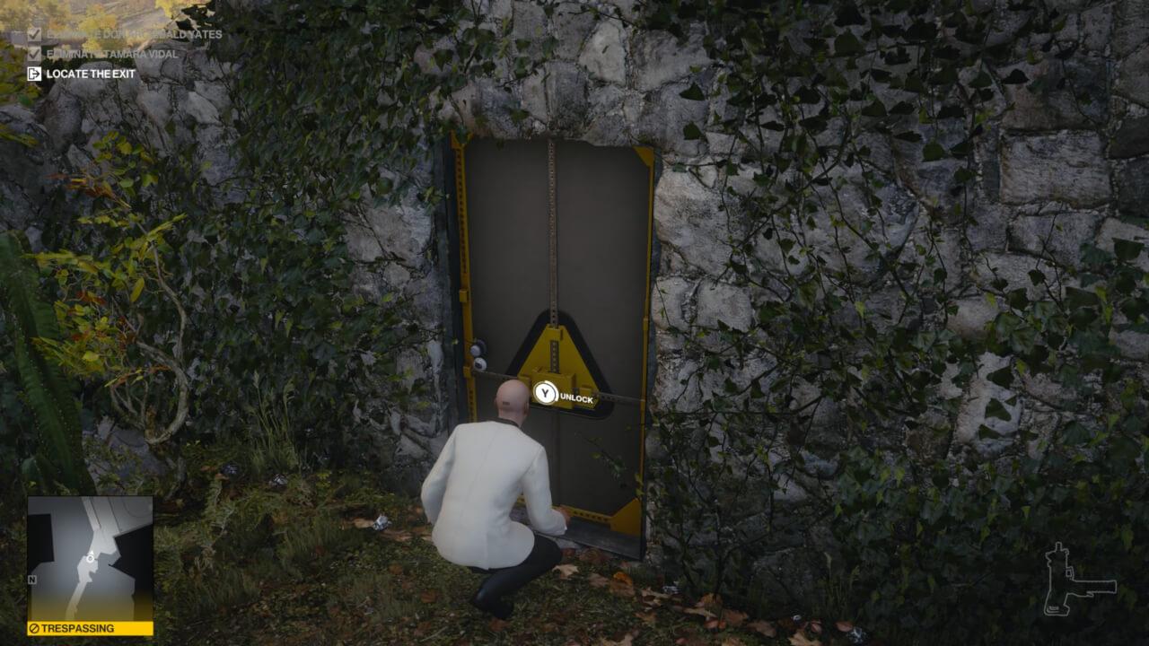 ヒットマン3の新要素、ショートカット ショートカットに指定されたドアをアンロックすると、次のプレイでもアンロックされたままとなる