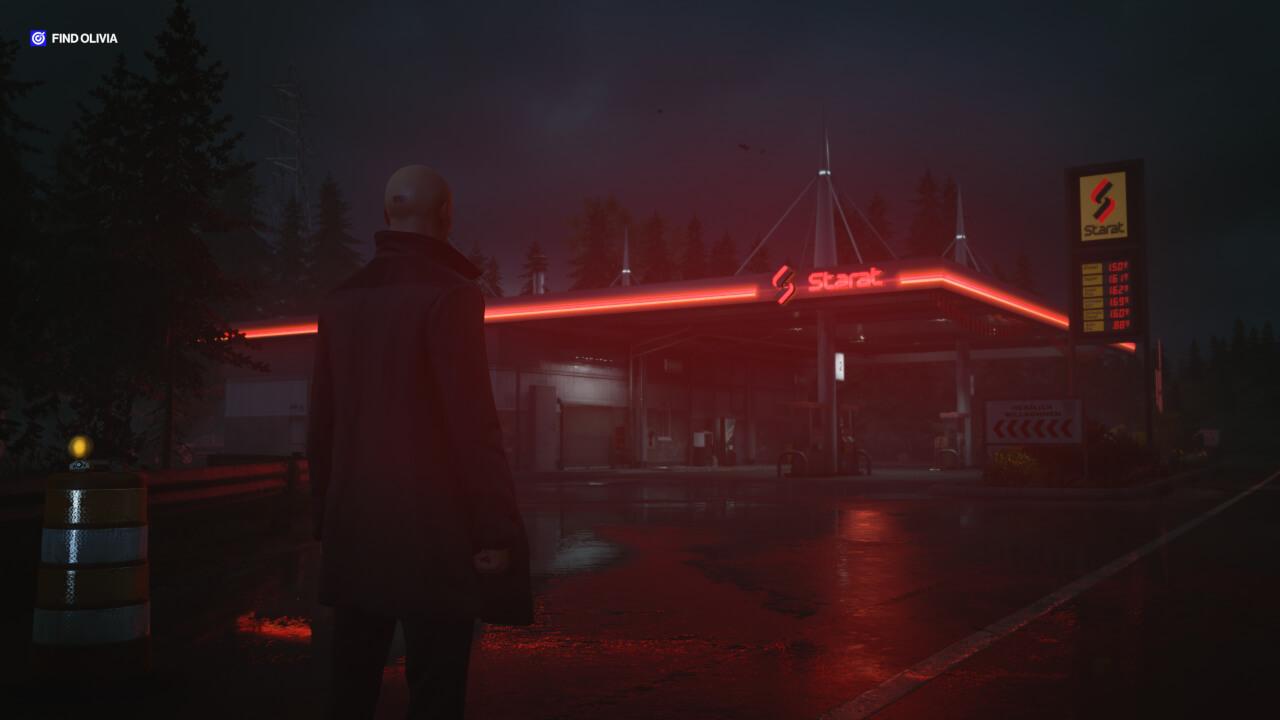 ヒットマン3にて登場するガソリンスタンド どことなくアランウェイクに似ている?